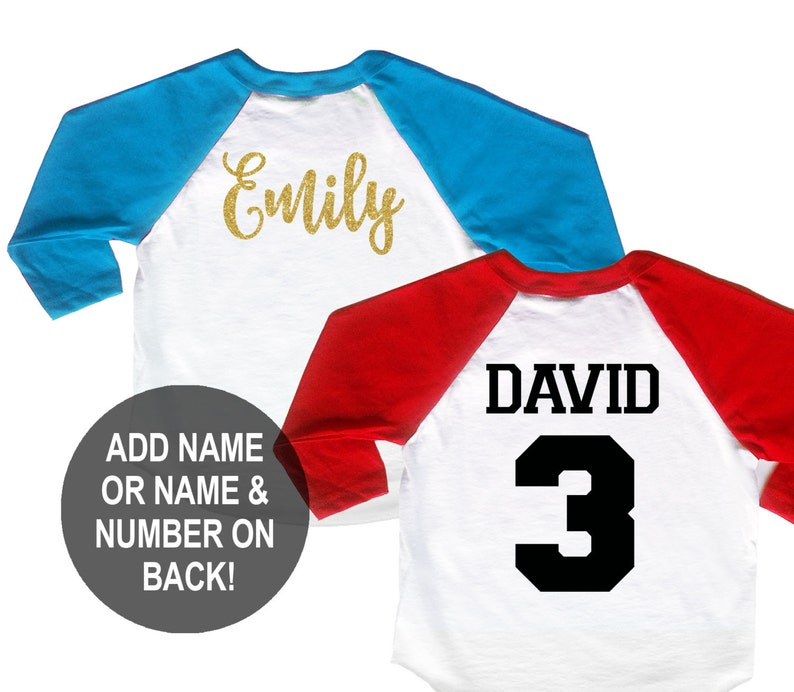 bd1b71839 Personalize Add Name or Name and Number on the Back of Shirt | Etsy