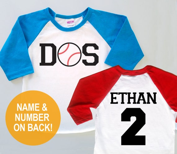 Dos Baseball Personalized Second 2nd Birthday Jersey