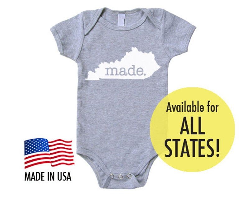 All States 'Made' Cotton Baby One Piece Bodysuit  image 0