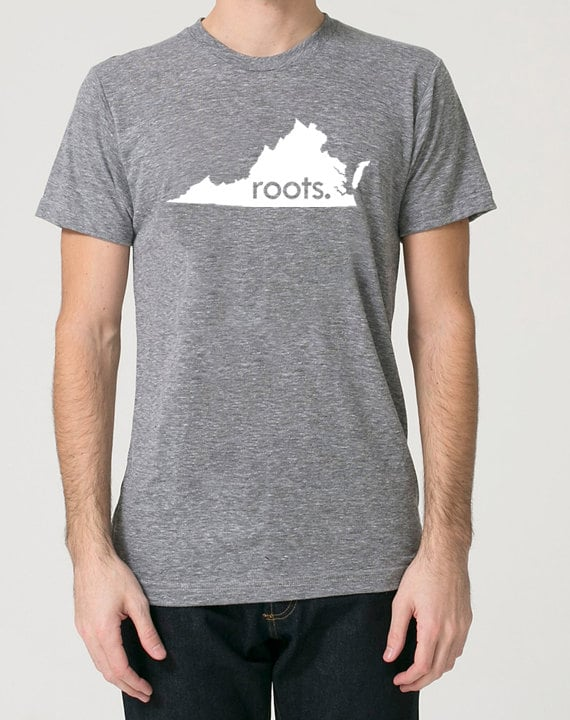 Virginia State Shamrock Tri-Blend Long Sleeve T-Shirt