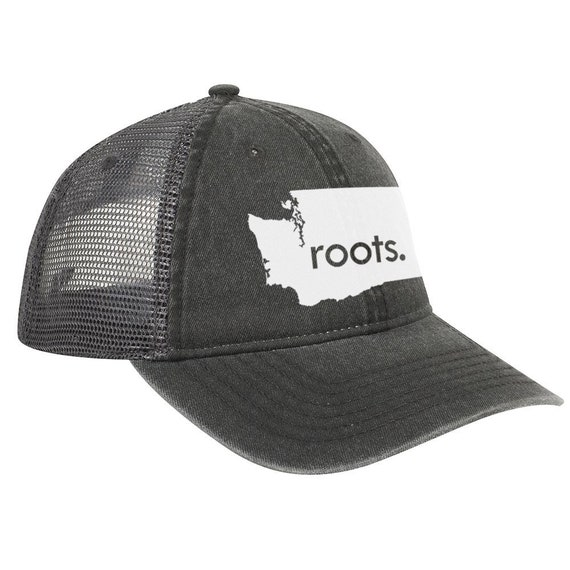 Vintage Look Pigment Dyed Cotton Twill Polyester Mesh Back 6 Panel Low Profile Trucker Dad Hat Pennsylvania /'Roots/' Trucker Hat
