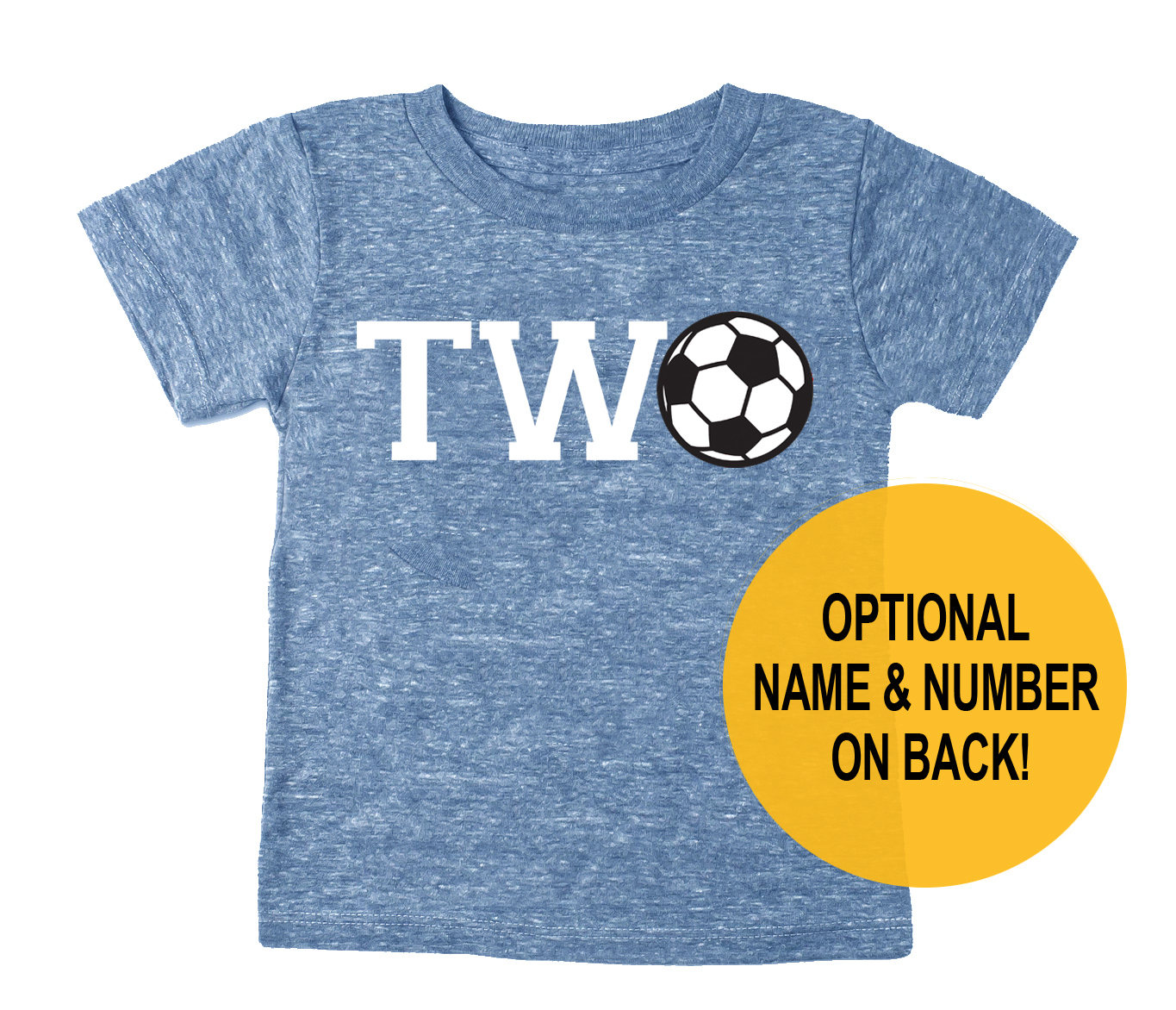 cfde4f9e Second 2nd Birthday 'Two' Soccer Tri Blend Toddler 2 | Etsy
