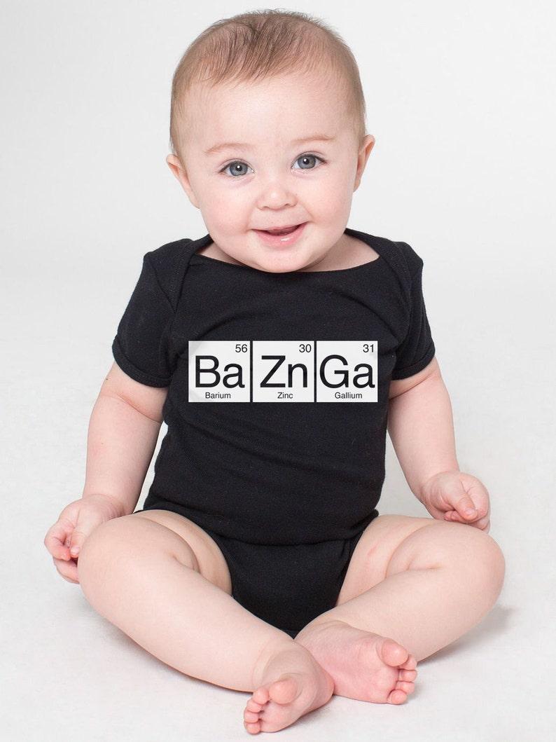 65cec93d BaZnGa Periodic Table Cotton Baby One Piece Bodysuit Bazinga | Etsy