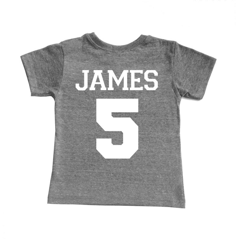 Toddler Boy and Girl Tee Rookie of the Year Football Tri Blend Toddler Birthday T-Shirt