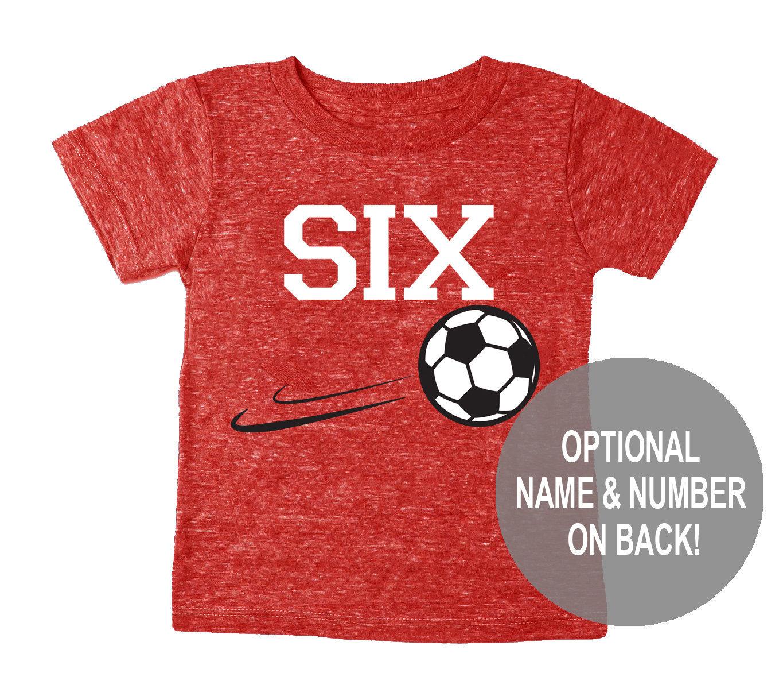 8ba45676 Sixth 6th Birthday 'Six' Soccer Tri Blend Toddler 6 | Etsy
