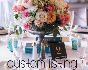 CUSTOM LISTING - 2 Slate Table Numbers with stands for Karena