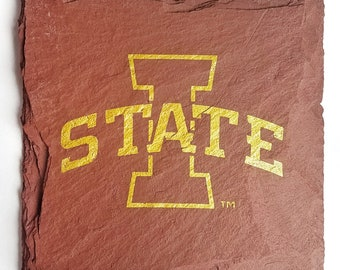 4 Iowa State Cyclones Slate Coasters - Officially Licensed - Tailgating, Craft Beer, Mancave, husband, boyfriend, brother, birthday