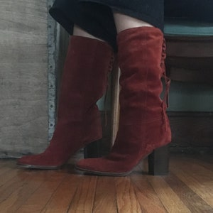 Vintage Gitano Brand Suede Ankle Boots