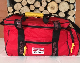 Vintage 90 s Marlboro Lizard Rock Insulated Red Cooler Duffel Bag (free  shipping) a36ae3df0f