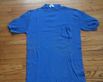 3008d324a99ede Vintage KMart Super Soft Plain Blue Pocket T-Shirt