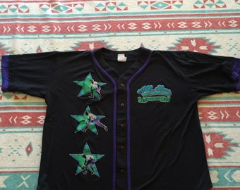 Vintage Athletic Works Brand All Stars Baseball Button Up Shirt