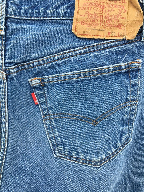 Vintage 90's Levi's 501 Button Fly Distressed Hig… - image 10
