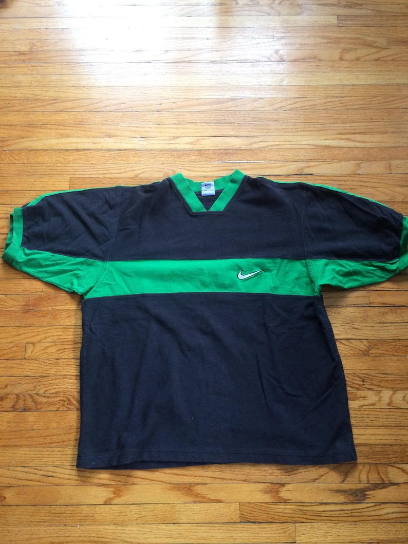 64a28e4b Vintage Nike Two Colored Oversize Nike Swoosh T-Shirt | Etsy