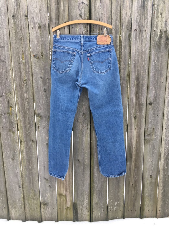 Vintage 90's Levi's 501 Button Fly Distressed Hig… - image 8