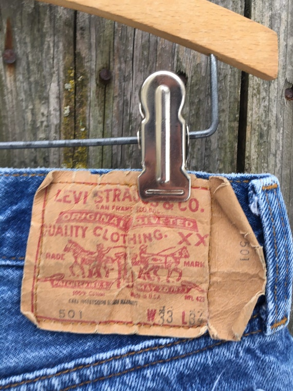 Vintage 90's Levi's 501 Button Fly Distressed Hig… - image 9