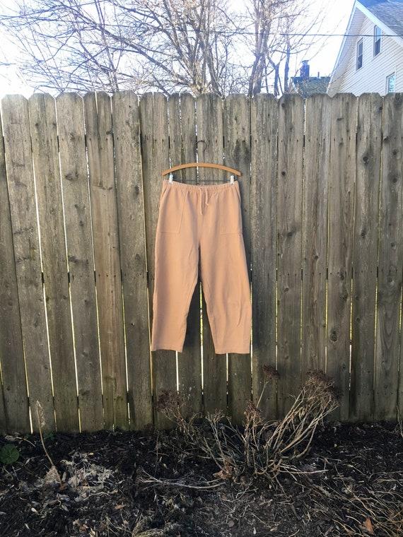 Vintage 80/'s Carolina Clothing Company Light Rust Colored Elastic Tie Waist Pants Size Medium