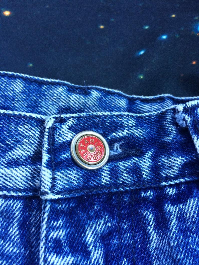Vintage Brittania Acid Wash High Waist Denim Jeans
