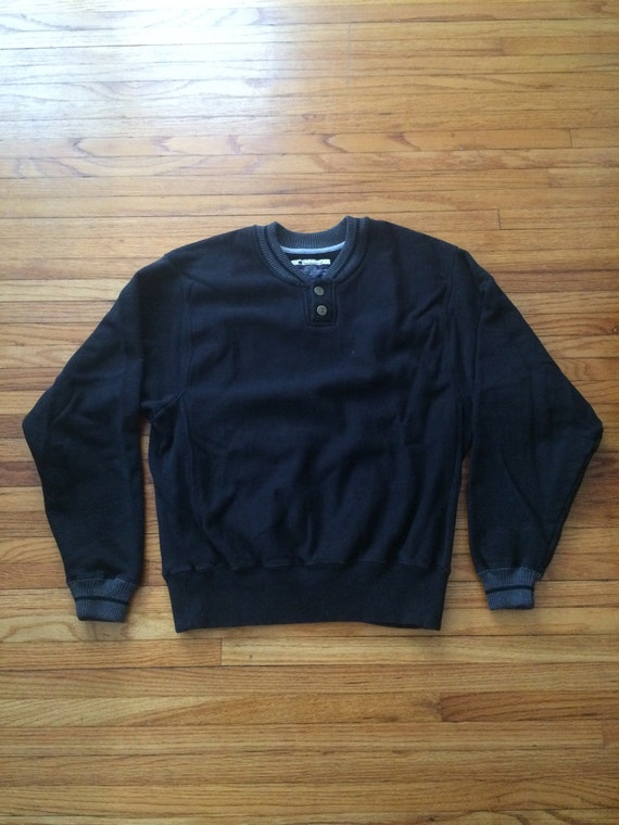 9ea32bcf1fba Vintage Champion 1 4 Button Up Crew Neck 90 s Sweatshirt