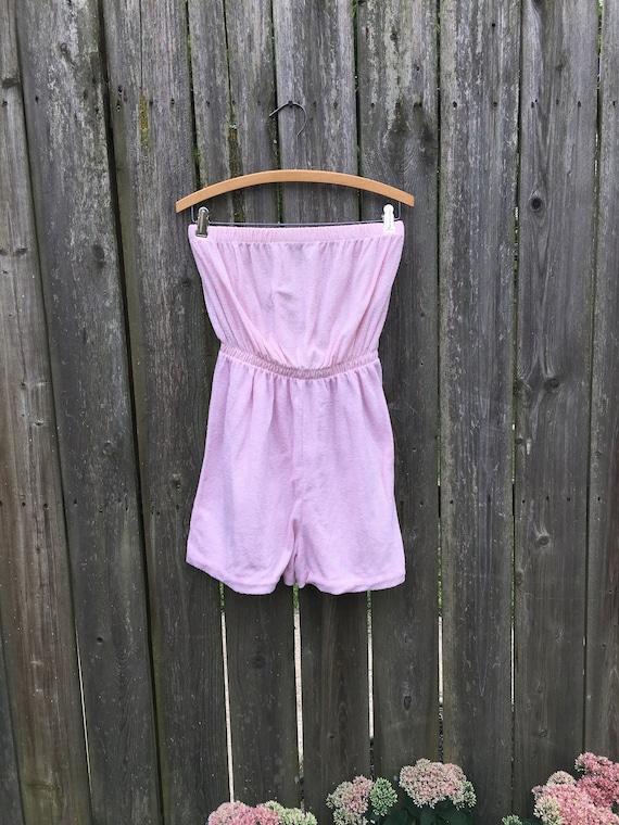 Vintage 80's Unbranded Light Pink Cotton/Poly Blen