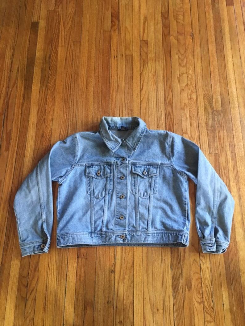 7a7f5b1fd Vintage 90's Venezia Jeans Company Light Wash Button Up Denim Jean Jacket  (free shipping)