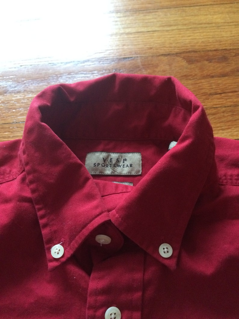 Vintage 90/'s The Ohio State University Buckeyes Logo Red Long Sleeve Button Up Crop Top free shipping
