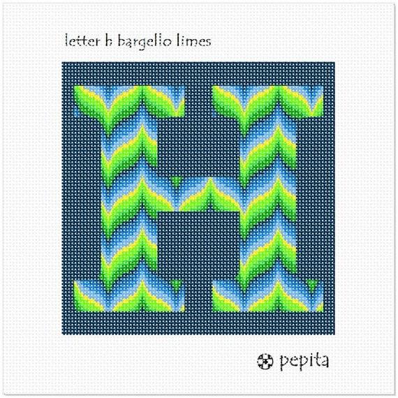 pepita Letter W Bargello Sunset Needlepoint Kit