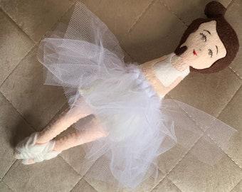 Ballerina Doll. White Ballet Doll.