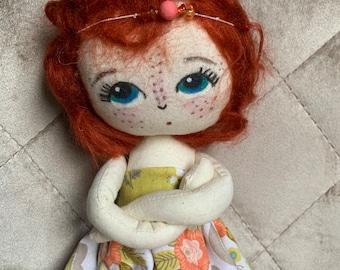 Handmade Heirloom Doll. Fox Girl. Bespoke Doll.