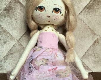 Handmade Doll. Bunny Doll. Bespoke Doll. Art Doll.