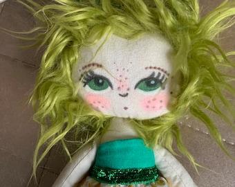 Handmade Heirloom Doll. Lioness Doll. Bespoke Doll.