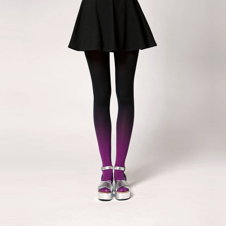Ombré tights in Fuchsian Violet image 0