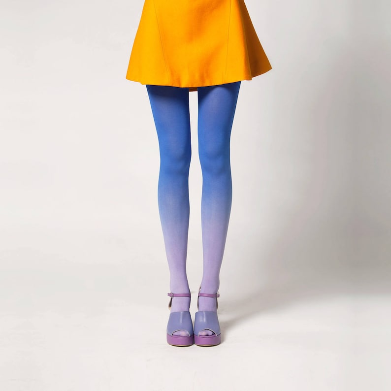 Ombré Tights in Moonbeam image 0