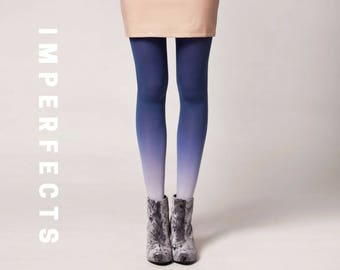 IMPERFECT, Ombré Tights in Denim