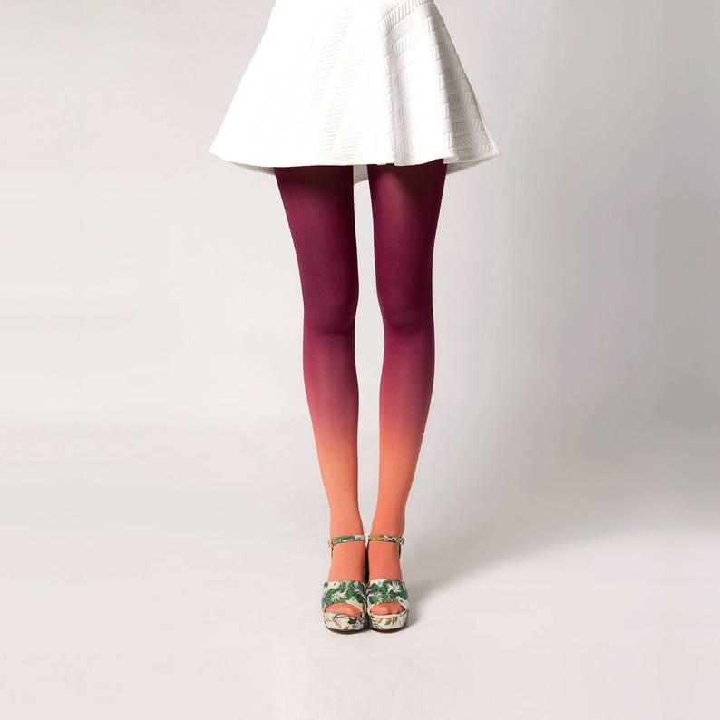 Ombré Tights in Dahlia image 0