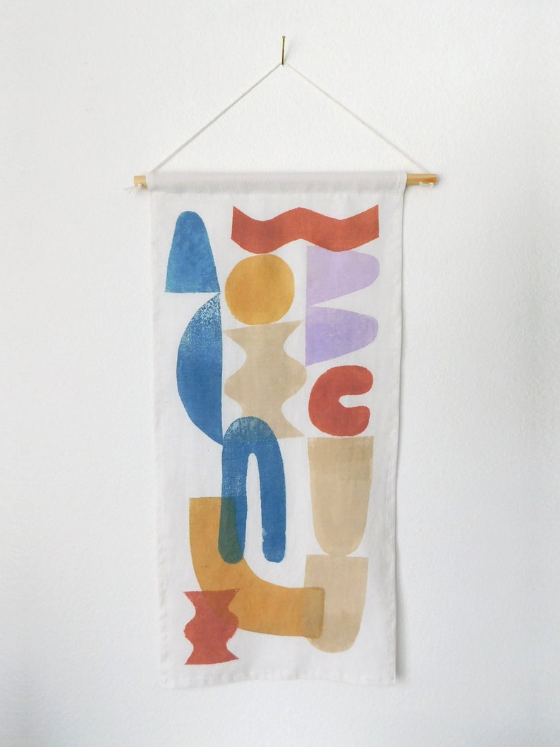 Block Printed Wall Hanging 'Primary' image 0