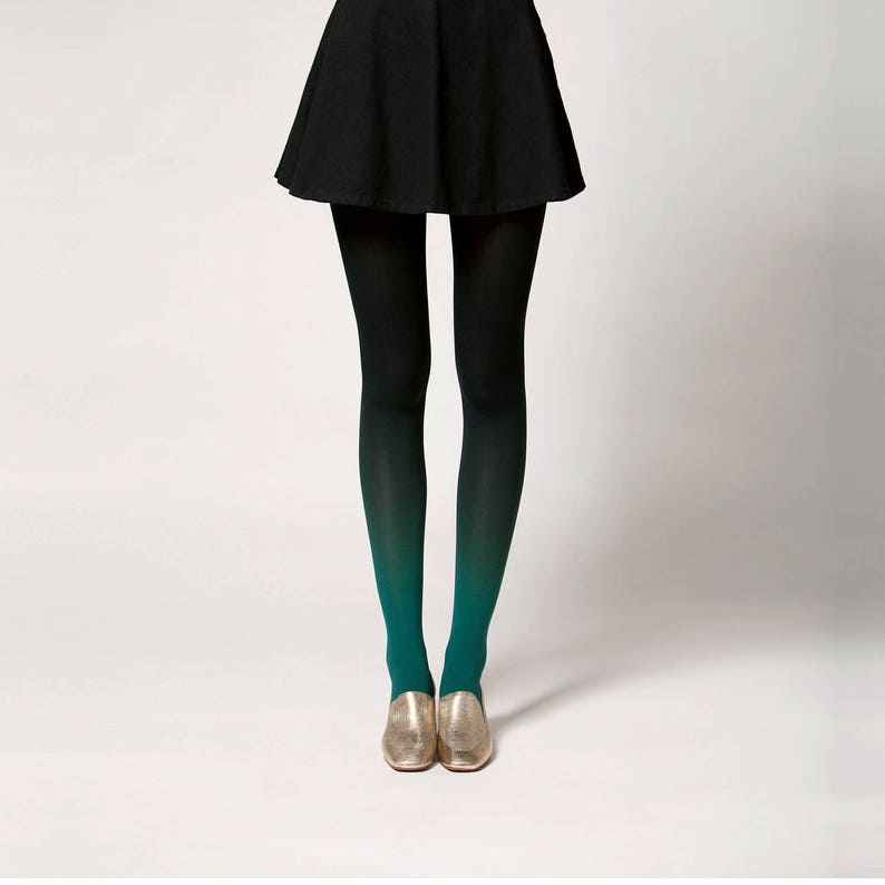 Ombré Tights in Fir image 0