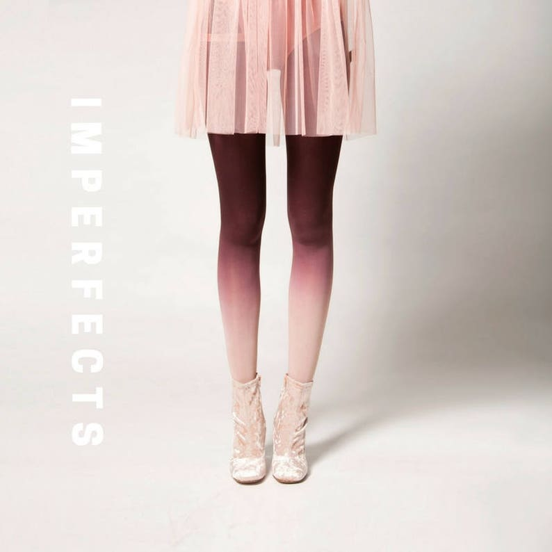IMPERFECT Ombré Tights in Clay image 0