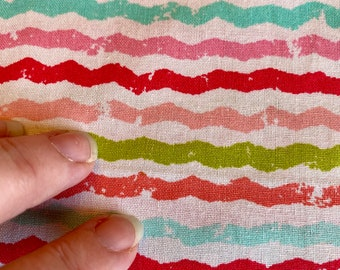 Pink Aqua Fabric by the yard Distressed Wiggles 100/% Cotton Available in Half yard cuts /& multiple Yards Red Sale Green swiggles