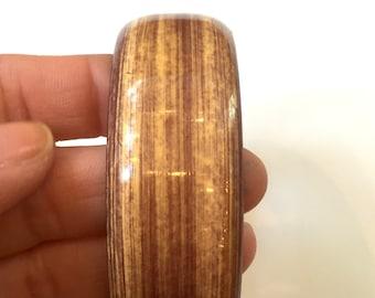 Vintage Faux Wood Bangle Tie Dye Style Bangle Boho Style Bangle
