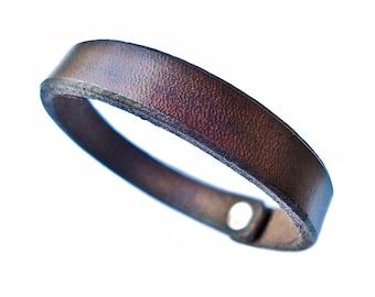 Customizable Leather Bracelet