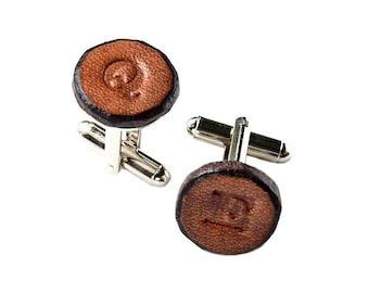 Customizable Leather Cufflinks