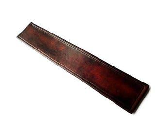 Customizable Leather Bookmark