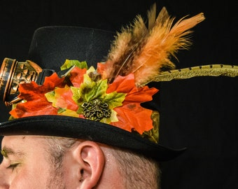 d7f302b10f8 Autumn Genius fall inspired satin coachman top hat