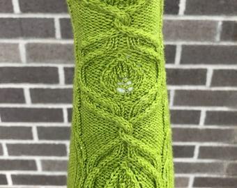 Knitting PATTERN Falls of Nimrodel Socks / Toe up socks / Cable knit socks / beaded socks / lace knit socks
