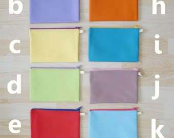 Large PVC zipper pencil case, cosmetic bag, snack bag,  rectangle shaped, waterproof, zipper pouch -  colorful