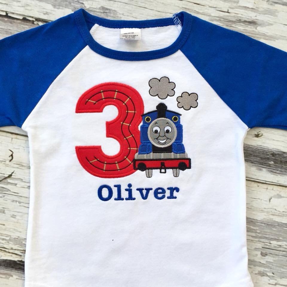 Train Track Birthday Number Shirt