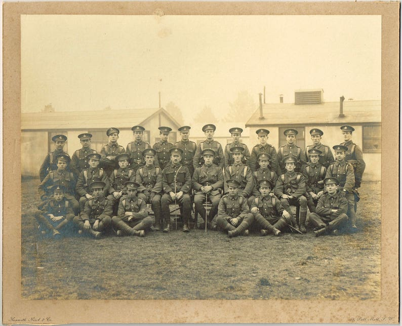 Vintage antique original WW2 British soldiers Royal Artillery, 1950s Royal  Engineers Royal Air Force Navy photo, black white sepia, military