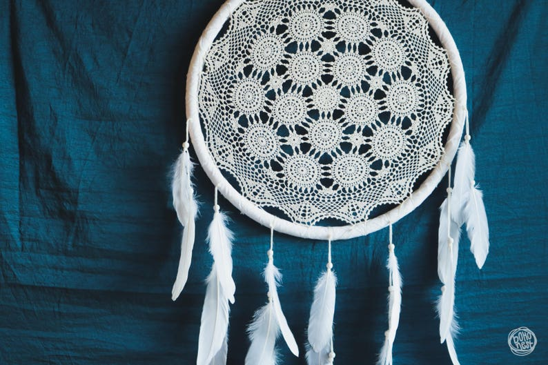 Decorazioni Matrimonio Bohemien : Grande dream catcher per matrimonio o nursery decor bohemien etsy