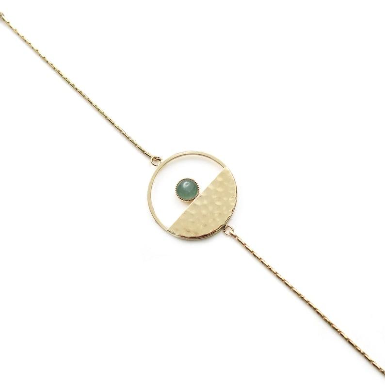 Gold filled bracelet  Bracelet simple  Handmade  Moderne and feminine ideal gift Nautilius by Lily Garden