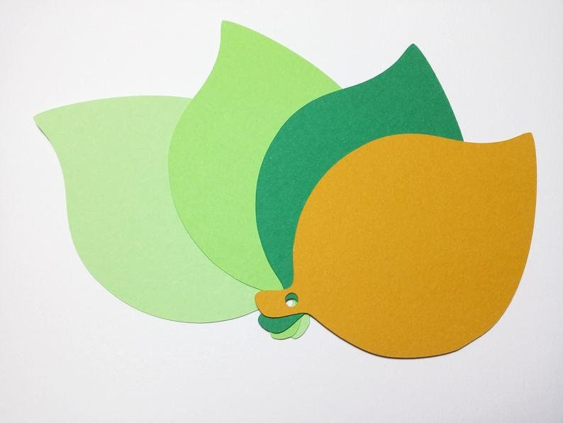 Leaf Die Cuts 100 or 200 pcs Place Cards. Escort Cards,Advice Cards,Wishing Tree,Bulletin Boards,Showers,Wddding Cards ,Large leaf 4 in.